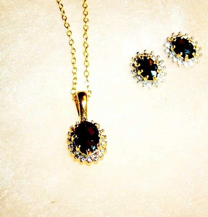 Sapphire oval cut set