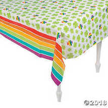 Rainbows and Shamrocks St. Patrick's Day Plastic Tablecover - $4.49