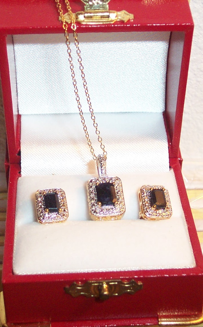 Sapphire set emerald cut