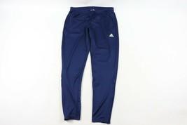Adidas da Uomo Grande Spell Out Gamba Corsa Jogging Calcio Tuta Blu - $48.08