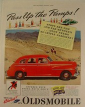 """1941 Red Oldsmobile SPECIAL SIX """"Pass Up the Pumps!"""" Print Ad - $9.99"""