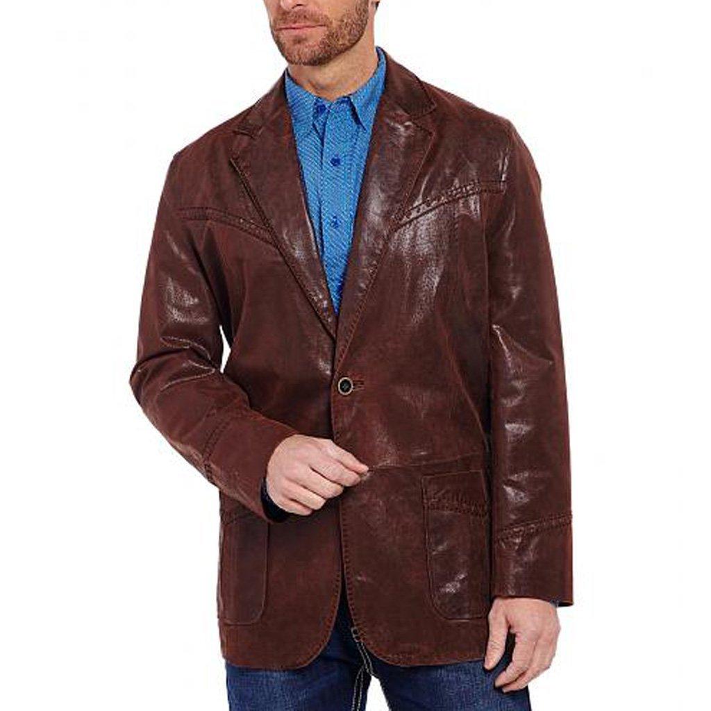 Lamb Skin Leather Men Blazer