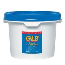"GLB 71250 2 lb 1"" Stabilized Chlorine Tablets - $17.62"