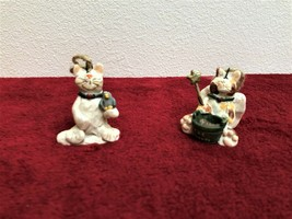 Vintage CMI Cat Ornaments, Rustic Clay in EUC from 1999 - $14.84