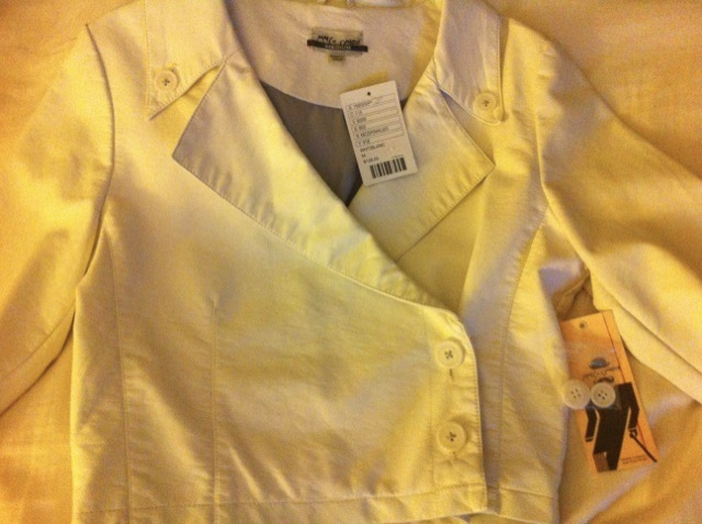 URBAN OUTFITTERS MarCo Operative Venice WHITE faux LEATHER JACKET NWT NEW medium Bonanza