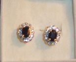 Sapphire earrings oval cut thumb155 crop