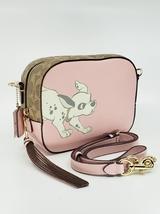 Coach X Disney101 Dalmatians Pink Leather Camera Crossbody Bag Purse - $259.00