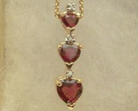 Rhodolite garnet 3 heart necklace thumb155 crop