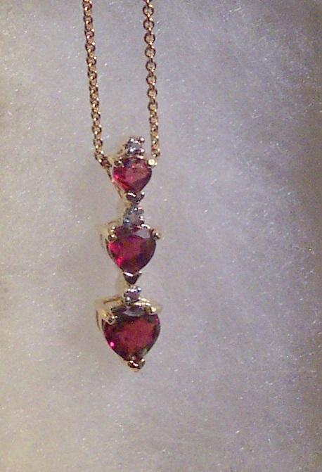 Rhodolite Garnet & Diamond Necklace