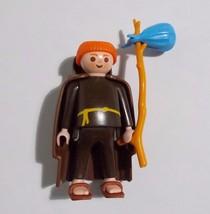 Playmobil Figure Wandering Monk Medieval Friar 3631 Cloak Stick Sack - $37.61