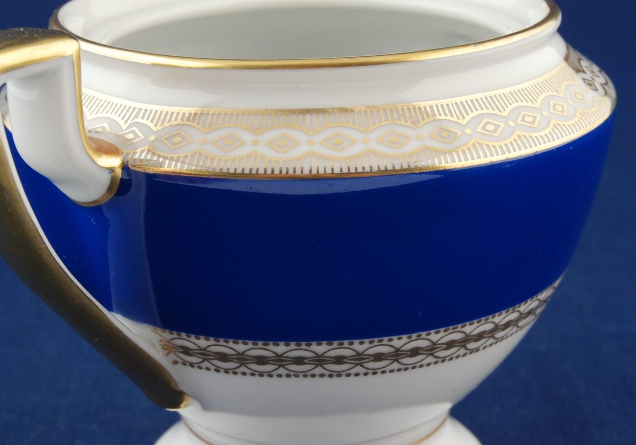 Konigl pr Tettau Cobalt Sugar Bowl Bottom Germany NOS Royal Tettau