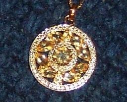 Citrine medallion