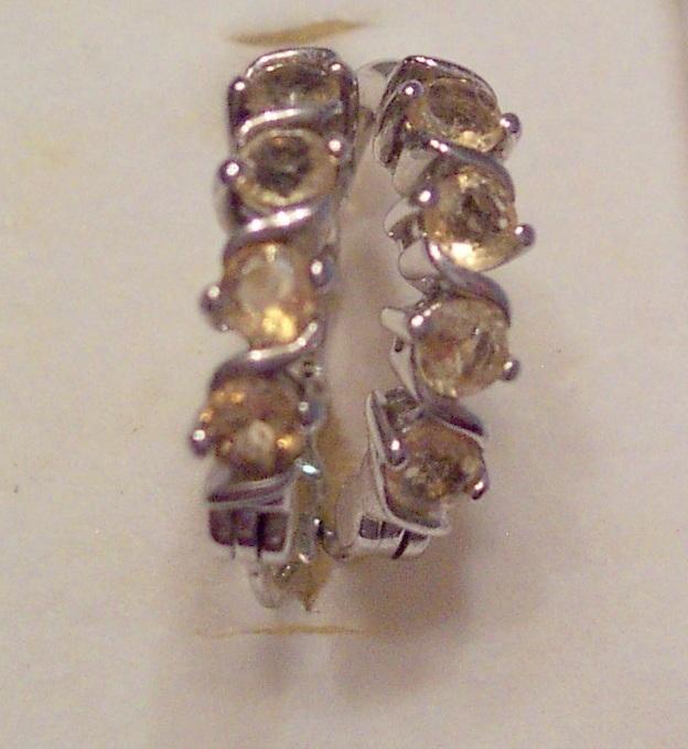 4 Stone Citrine in Sterling Silver Earrings Bonanza