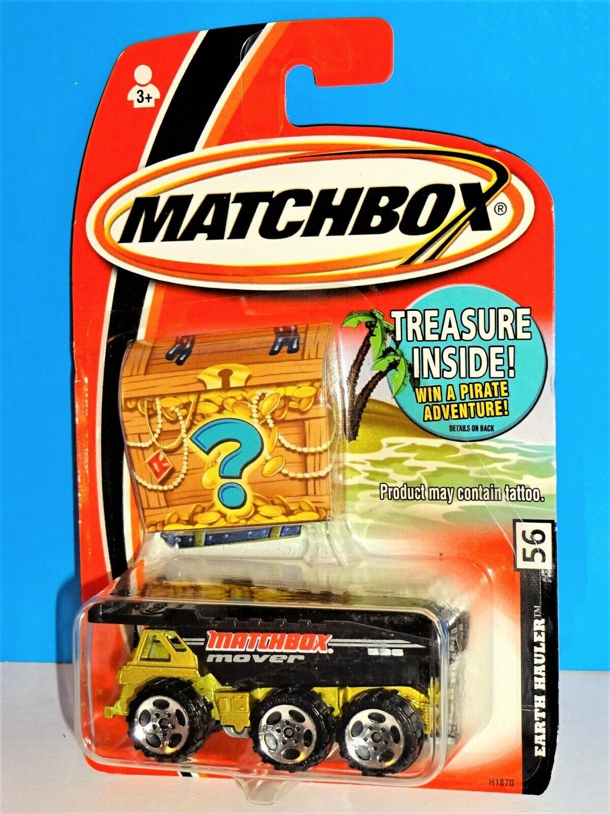Matchbox 2005 Treasure Bonus Prize Package #56 Earth Hauler Dump Truck - $3.00