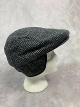 Dorfman Pacific Headwear Size M Gray Black Wool Cabbie Newsboy Hat Ear F... - $26.43