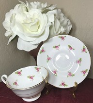Vintage Royal Grafton Bone China Tea Cup & Saucer England Roses Gold Trim MINT - $14.50