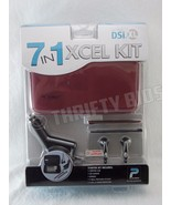 Playtech 7 in 1 Xcel kit Nintendo DSi XL Burgundy Case Earbuds Charger S... - $12.86