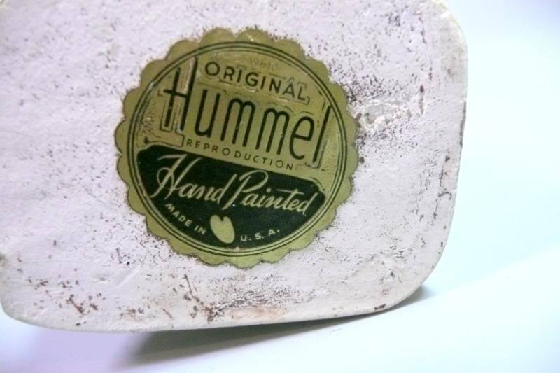 1940s WWII Hummel Figurine USA Doubler Label