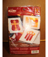 Bucilla SPIRIT OF CHRISTMAS Felt Embroidery Card Kit - Makes 3 - $9.95