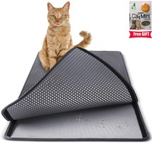 Large Double Layer For Cats Litter Mat Rubber Waterproof Pad Honeycomb Pets - $32.24+