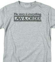 Law and Order Graphic Tee Shirt TV Show gray t shirt  NBC228 image 2