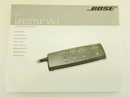 Bose Lifestyle   VS-1 video expander Manual  owners guide  - $12.09