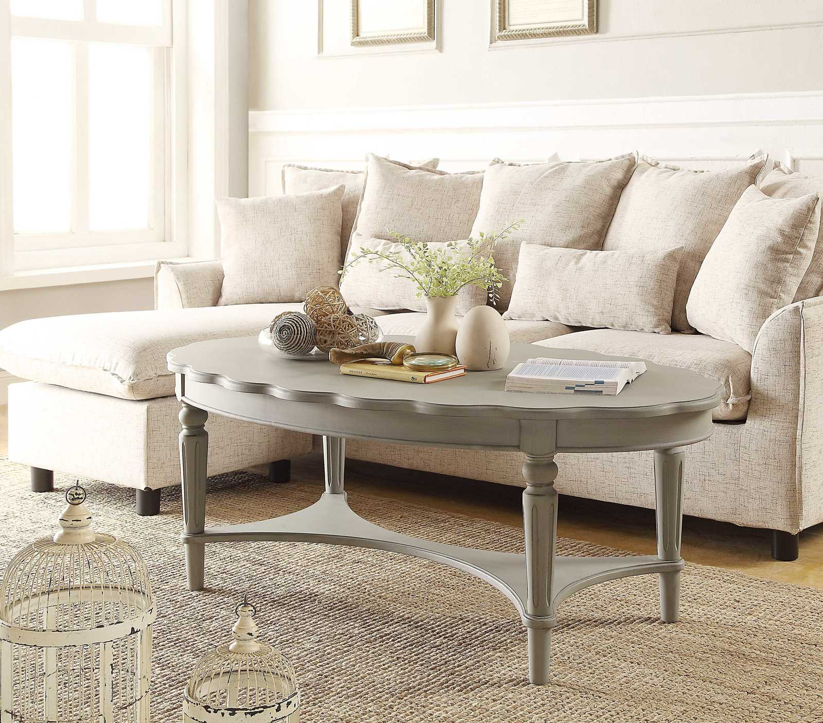 Antique White And Oak Coffee Tables: Coffee Table In Antique White