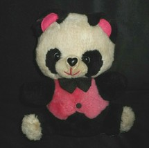 "10 "" Vintage Mty Internazionale Bianco e Nero Panda Peluche Peluche - $23.21"