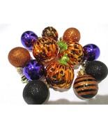 """(12) Halloween Mini Pumpkin Ball Glitter Ornaments 1.5"""" Decorations Decor - $23.99"""