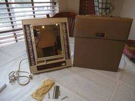 GE Illuminato Vintage Specchio Trucco IM-2 Deluxe Carry Custodia 4 Luce - $53.44