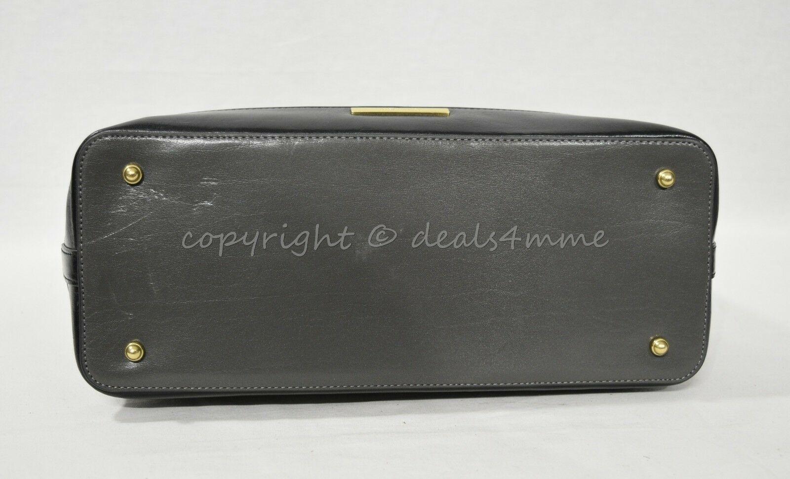 NWD Brahmin Large Duxbury Satchel/Shoulder Bag in Charcoal Westport image 9