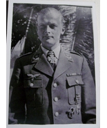 ORIGINAL WW2 GERMAN PHOTO: LUFTWAFFE PILOT WITH KNIGHT'S CROSS! - $20.00