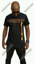 Odeneho Wear Men's Polished Cotton Top/Kente Strip Design. African Clothing - $79.19+