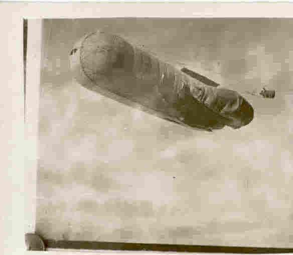 German observation balloon, World War 1 Real Photo Post Card