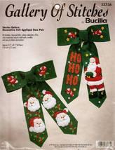 Bucilla SANTAS GALORE Felt Applique Christmas Embroidery Kit - $10.00