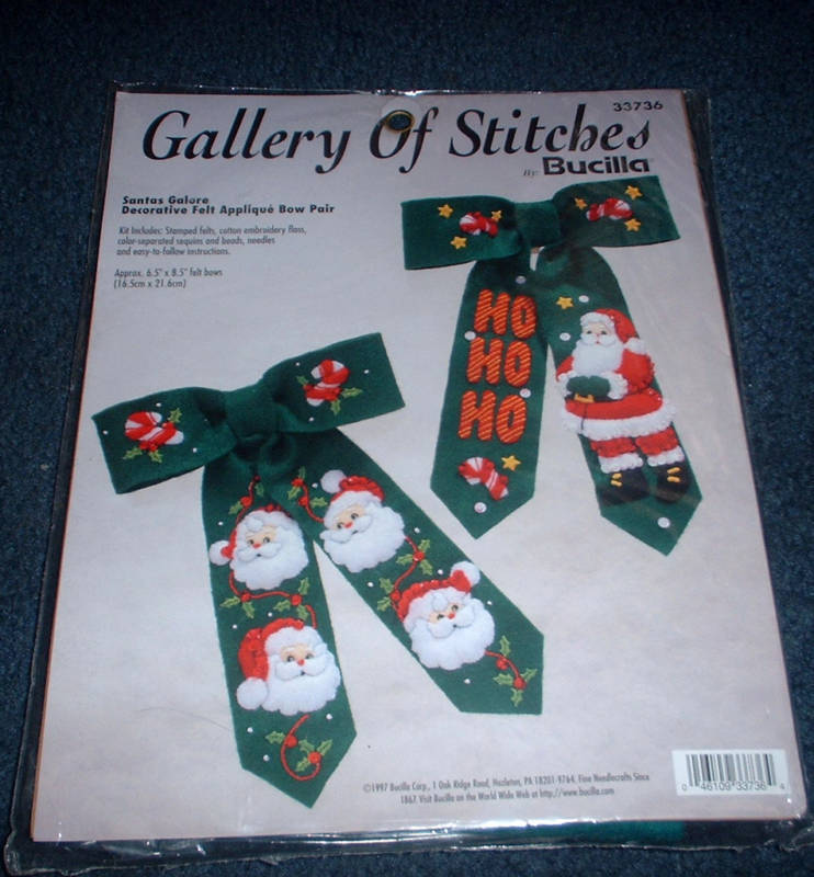 Bucilla SANTAS GALORE Felt Applique Christmas Embroidery Kit