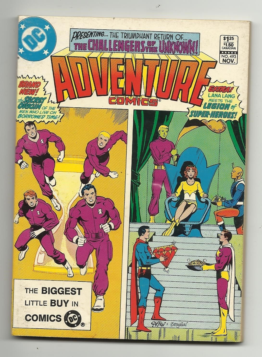 Adventure Comics #493 - Challengers of the Unknown Zatanna Spectre & MORE