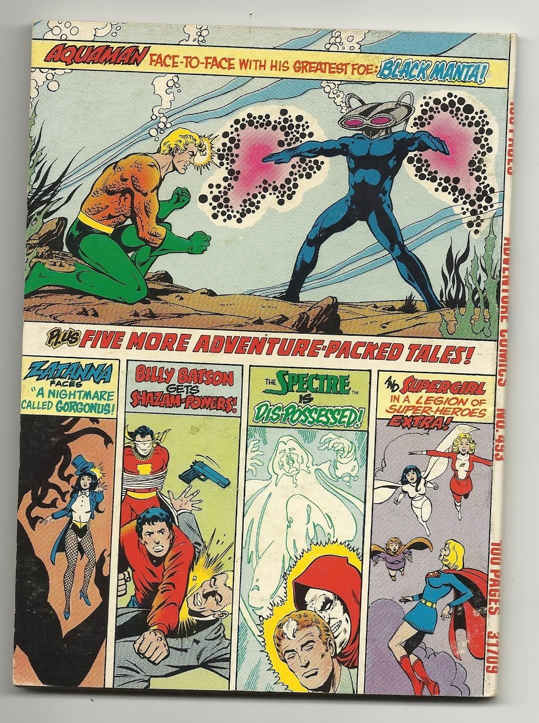 Adventure Comics #493 - Challengers of the Unknown Zatanna Spectre & MORE image 2