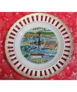 """Seattle Souvenir Collectors 6"""" Plate Worlds Fair Space Needle Lattice Go... - $12.99"""