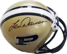 Len Dawson signed Purdue Boilermakers Replica Mini Helmet - $49.95