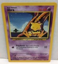 Abra 43/102 Pokemon Card Wizards TCG Original Base Set NM Great Condition - $2.16