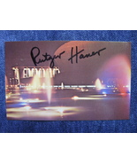 Autograph Of Rutger Hauer On A Postcard Initaled By Photographer One Of ... - $40.00