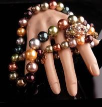 Elegant KJL Bracelet Signed set - pearl necklace - beaded bracelet - Vin... - $165.00