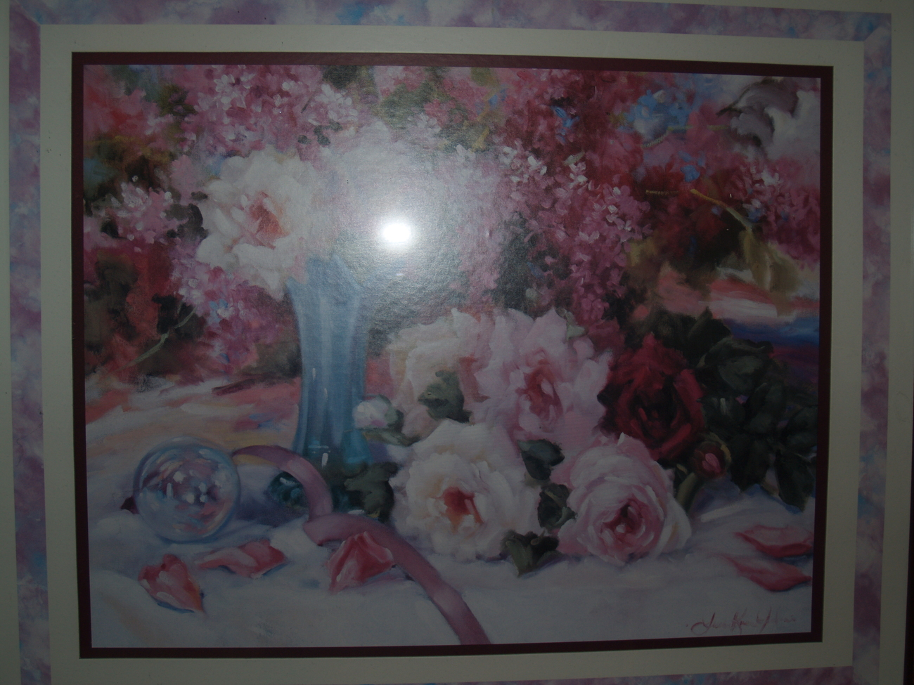 Print Oil Painting of Roses