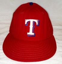 Texas Rangers Hat Wool Baseball Cap Vintage Worn New Era Diamond Sz 7 1/4 Usa - $24.97