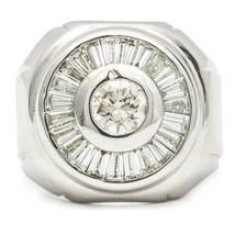 2.35 Carat 18K White Gold Diamond Cluster Ring - $6,430.05
