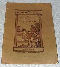 Delphian Society 1911 Magazine Handbook Renaissance Conduct  - $6.00