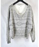 Vintage Havana Grey Fleece LS Dorman Sweater S USA Womens - $18.71