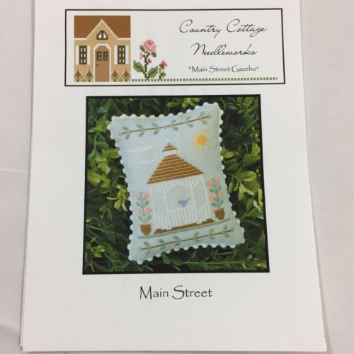 Country Cottage Needleworks Main Street Gazebo Cross Stitch Pattern