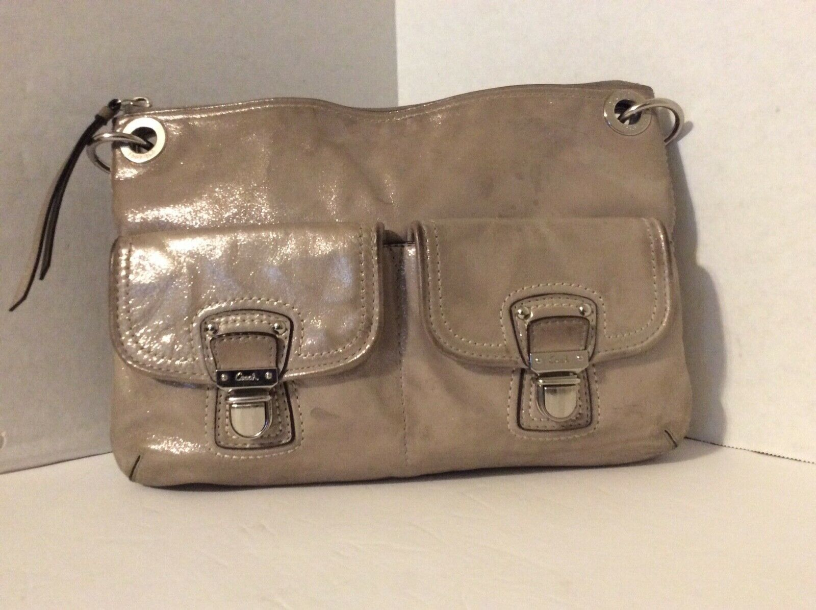 Coach Poppy Leather Hippie Cross Body Bag D1220-18996 image 1